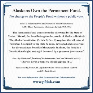 Certificate Alaskans Own Permanent Fund - PFD