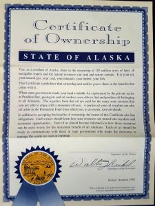 Certificate Of Ownership State Of Alaska